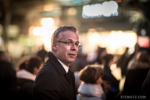 Directeur Marcel Schnider @ GIANT Christmas Lights 2015, Manor Fribourg