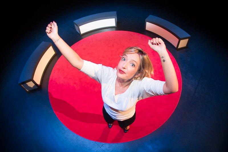 "Brigitte Rosset: Promotion du spectacle ""Tiguidou"" à Equilibre, Fribourg"