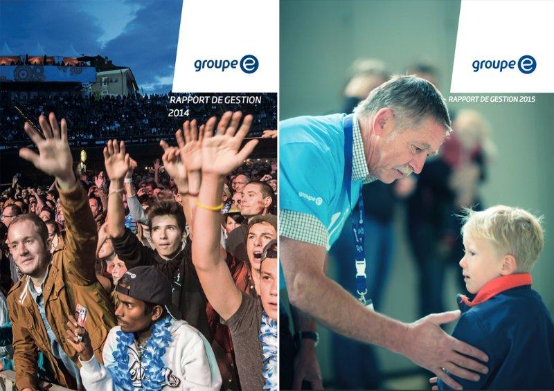 Groupe E : Couvertures des rapports de gestion 2014, 2015...