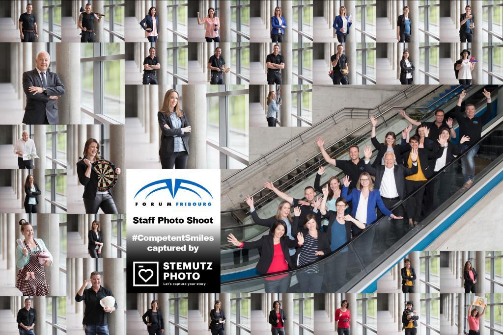 Portraits individuels et photos de groupe des employés de forum Fribourg