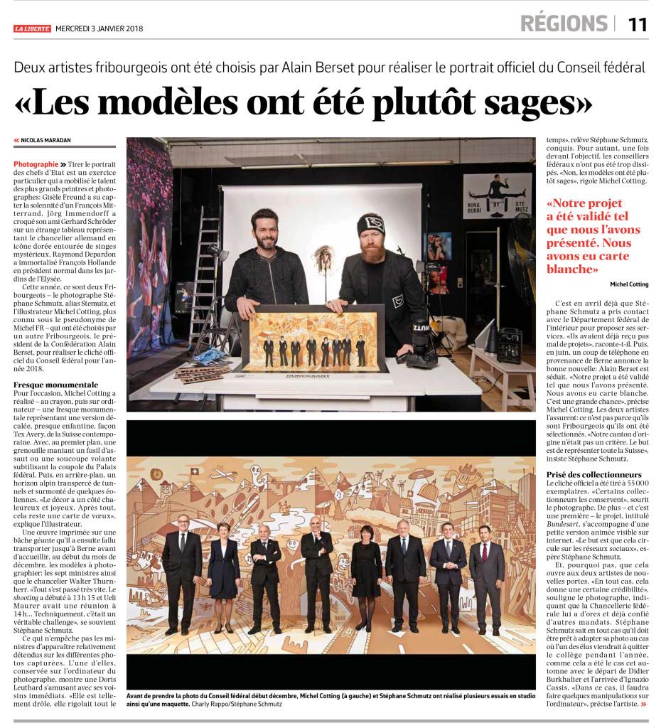 Interview et article, La Liberté, Nicolas Maradan