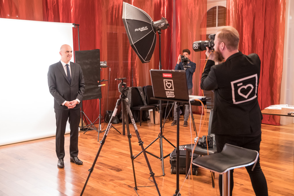 Behind the scenes: Shooting the President Alain Berset ...