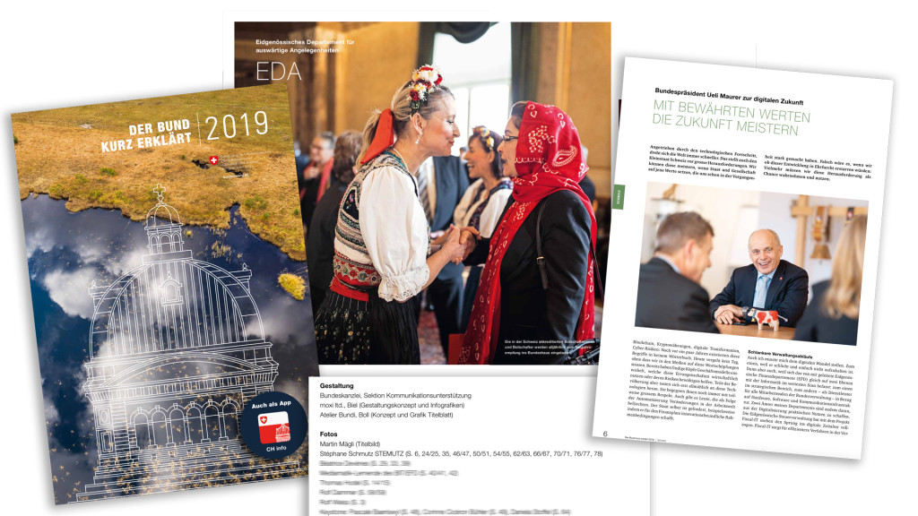 Der Bund kurz erklärt 2019 - The Official Magazine of the Swiss Confederation with the majority of big pictures by STEMUTZ