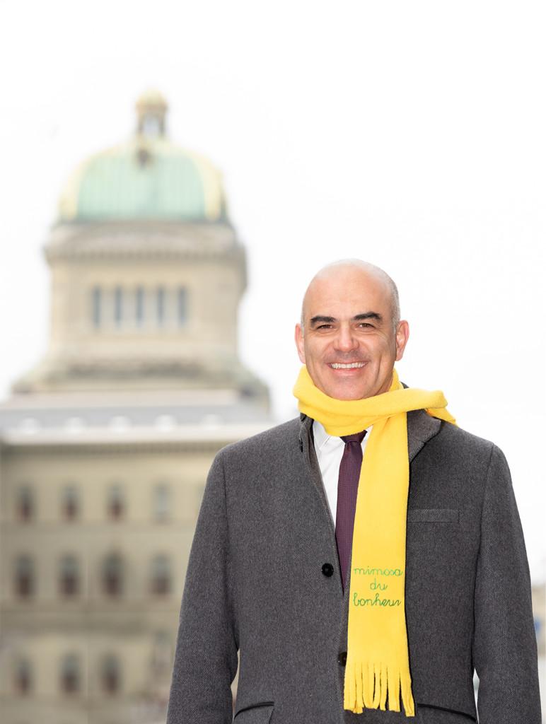 Portraits campagne MIMOSA 2019 par STEMUTZ : Le Conseiller fédéral Alain Berset