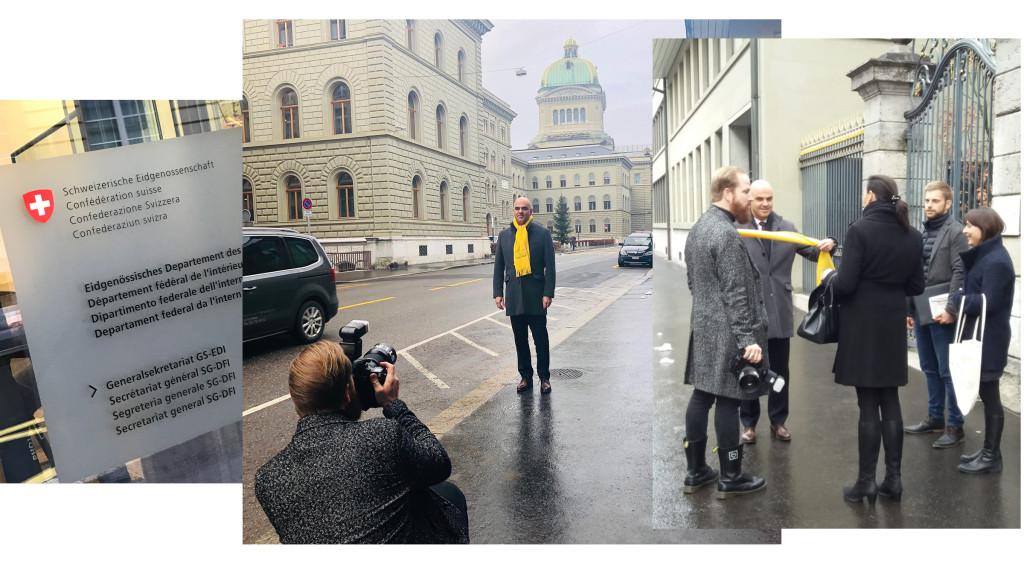 Making-Of: Portraits campagne MIMOSA 2019 par STEMUTZ : Le Conseiller fédéral Alain Berset