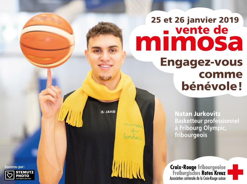 Portraits campagne MIMOSA 2019 par STEMUTZ : Natan Jurkovitz, Fribourg Olympic