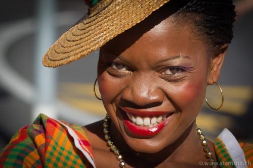Antigua & Barbuda smiling ... Parade de tous les groupes @ RFI 2011, Fribourg, 16.08.2011
