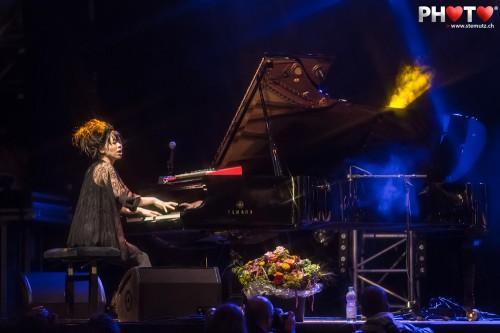 Hiromi'€™s big Yamaha Piano @ Jazz Parade, Fribourg, Swizerland, 10.07.2012