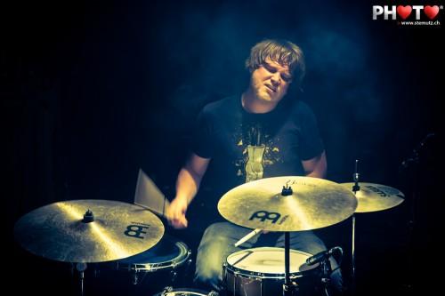 Drummer Luc Hess (The Ocean) with Coilguns @ OMFG, Fri-Son, 09.11.2012