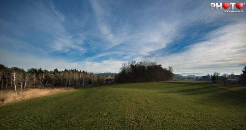 Sunny Winter Afternoon out in the field ... shot with 14 mm wide angle!
