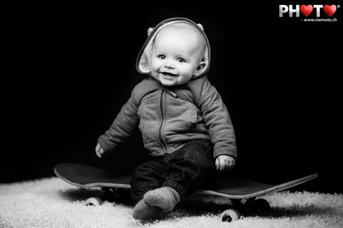 Future Skateboarder ... Baby Noah @ Wednesday's Photo Sessions