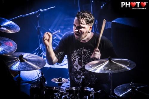 Drummer Bertrand ... Attack Vertical @ Ebullition, Bulle, Switzerland, 29.03.2013