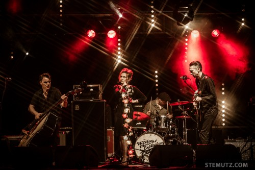 Stars on stage ... The Hillbilly Moon Explosion @ Jazz Parade, Fribourg, Switzerland