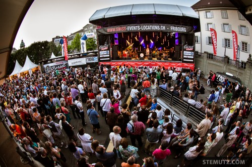 A lot of people ... Lina Button @ Jazz Parade, Fribourg, Suisse, 13.07.2013