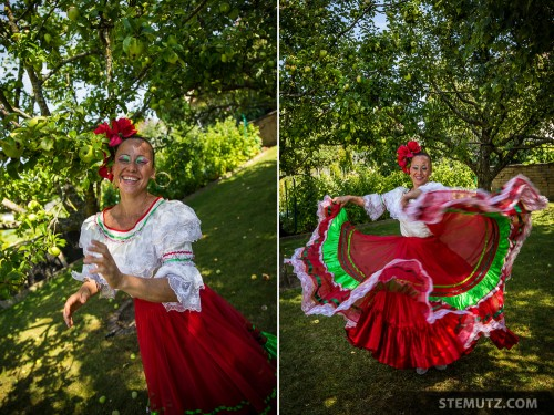 Nany of the Colombian Group Farallones dancing under the Apple Tree ...
