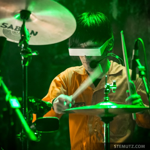 Yano Drummer Eyes ... Polysics (JP) @ Ebullition, Bulle, Switzerland, 28.09.2013