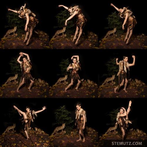 Jumping Fox ... Nina Burri Shoot @ CHAMBRE NOIRE Studio, Fribourg, 30.10.2013
