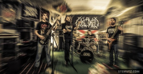 CD-Cover Photo Shoot of Death-Metal Band CALCINED, 18.12.2013