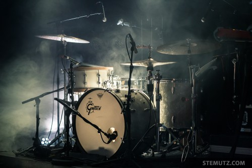 Fred Bürki's nice Gretsch Drumset ... ANNA AARON @ Nouveau Monde, Fribourg