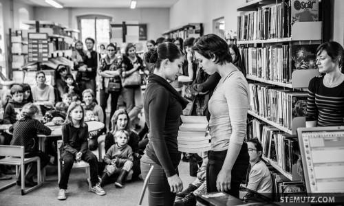 Eva & Mélanie ... Meet me at the Library @ Fête de la danse 2014, Fribourg