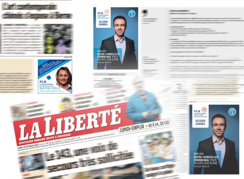 Annonces dans la presse, PLR Villars-sur-Glâne Campagne 2016