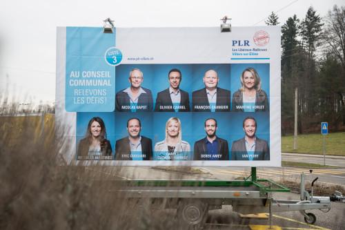 Remorque Boss Media, PLR Villars-sur-Glâne Campagne 2016