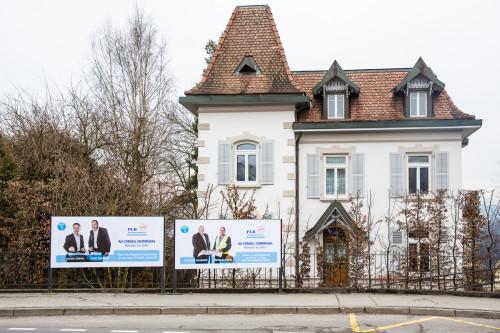 Affiches F12, PLR Villars-sur-Glâne Campagne 2016