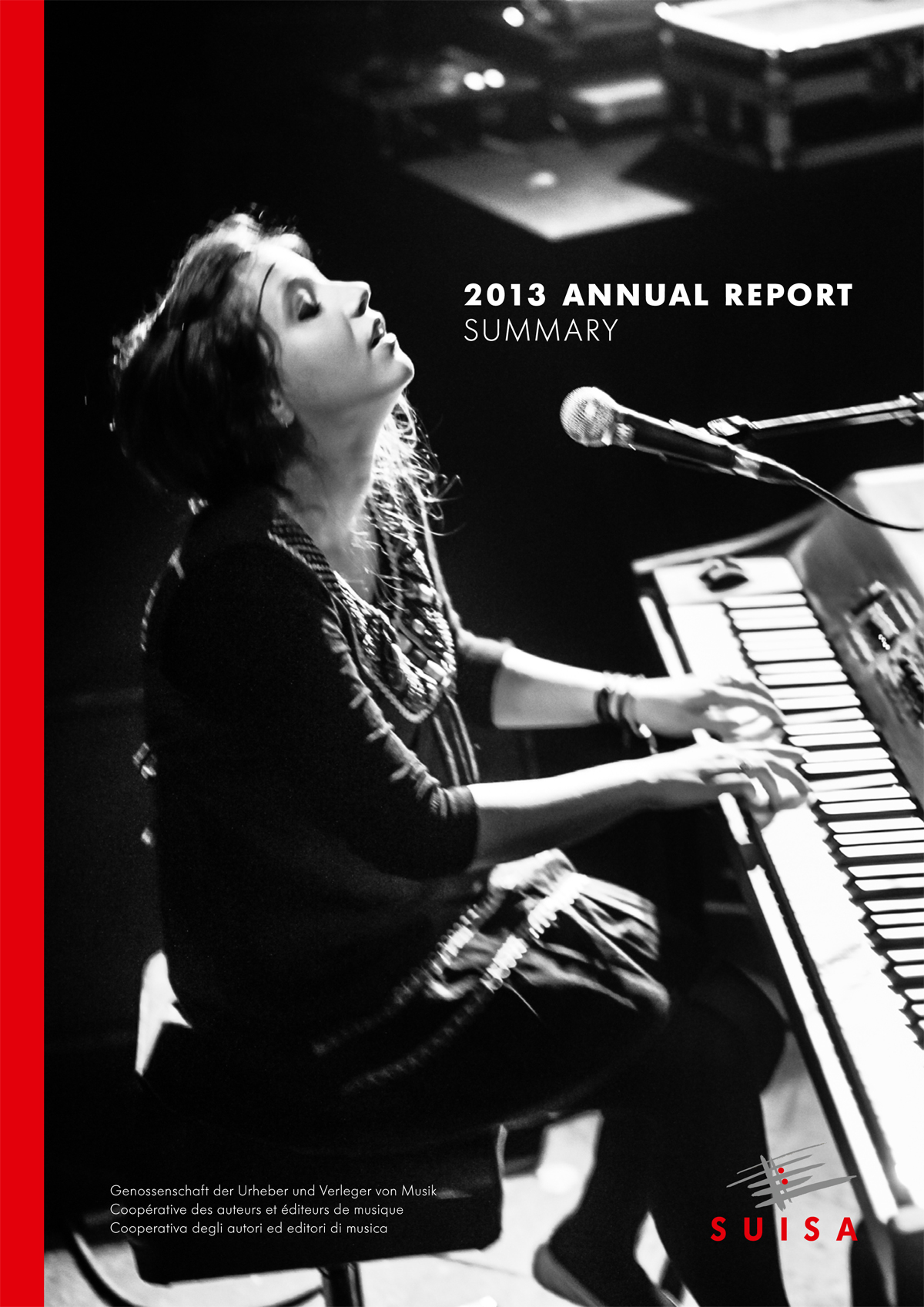Anna Aaron Picture by STEMUTZ on Cover of SUISA Annual Report 2013