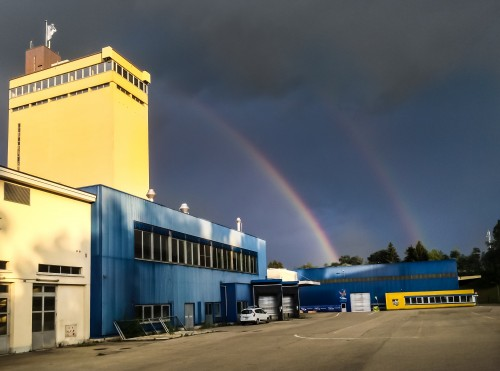Original Picture of the Double Rainbow over Bluefactory by STEMUTZ