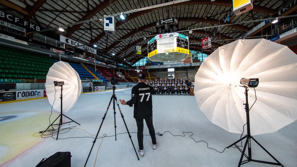 Shooting Groupe HC Fribourg Gotteron Portraits Officiels photographe studio fribourg stemutz