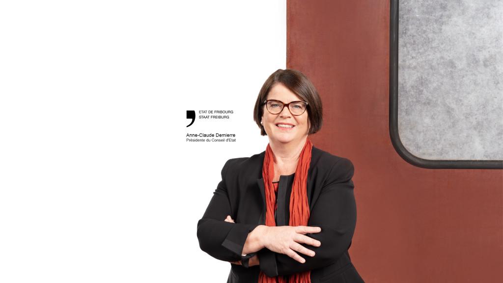 Anne-Claude Demierre, Présidente du Conseil d'Etat Fribourg 2020 par STEMUTZ photographe Fribourg