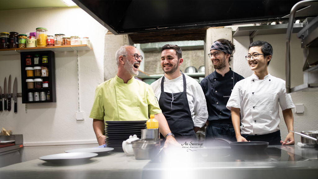 Hôtel-Restaurant Au Sauvage, Fribourg, Chef Serge Chenaux par le photographe STEMUTZ