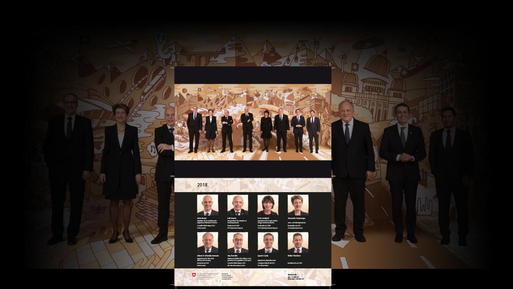 BUNDESART - Das kunstvolle Bundesratsfoto 2018 Alain Berset