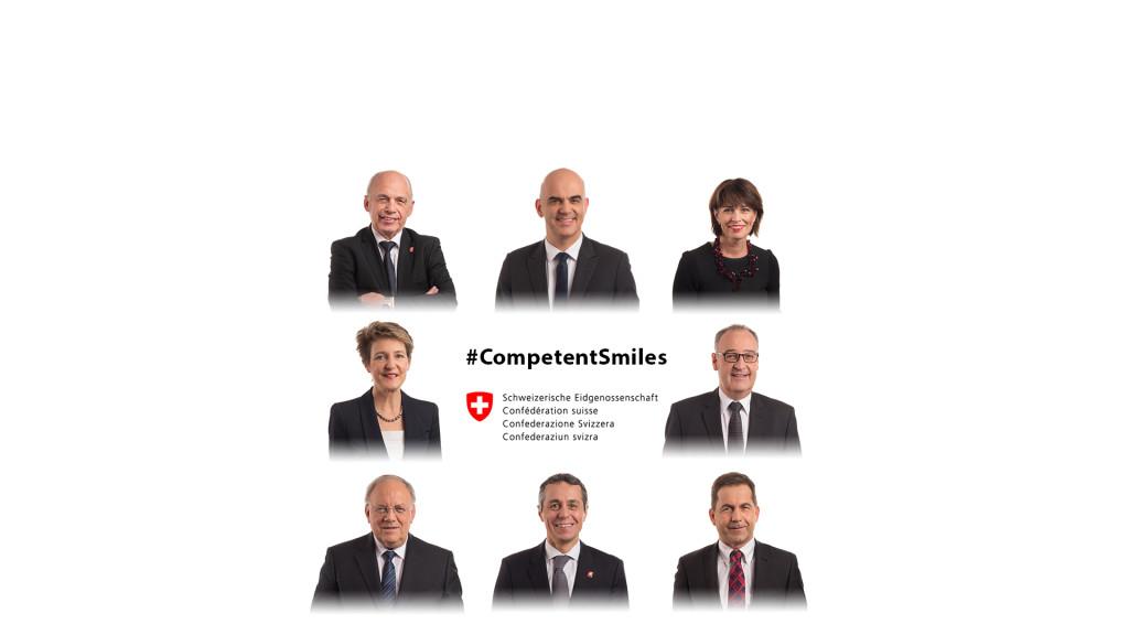 Bundesrat - Conseil Fédéral -Competent Smiles ... :-) Official Portraits 2018 by STEMUTZ