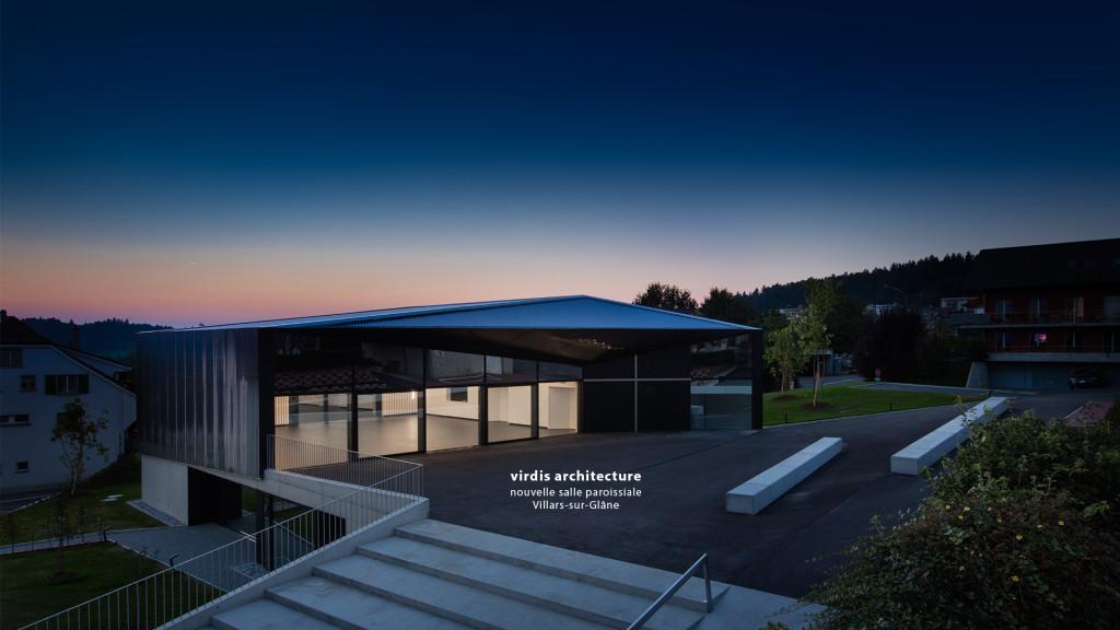 virdis architecture - nouvelle salle paroissiale Villars-sur-Glâne par le photographe professionnel STEMUTZ PHOTO à Fribourg