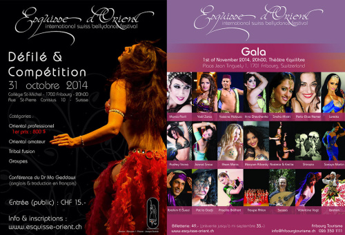 ESQUISSE D'ORIENT, International Swiss Bellydance Festival, Fribourg