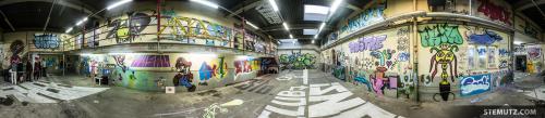 360° Panorama: Vernissage: Take a Wall @ blueFactory, Fribourg, Switzerland, 18.10.2014