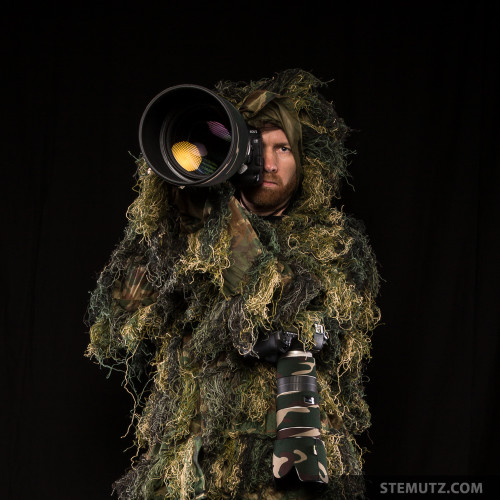 Ready for Wild Animal Photography with Ghillie Suit Wood Camo ...