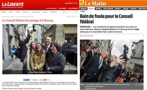 Screenshots Le Matin & La Liberté: : Alain Berset and myself ... :-)