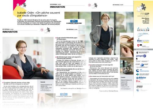 Publication de portraits corporate d'Isabelle Odin dans l'Info Patronale