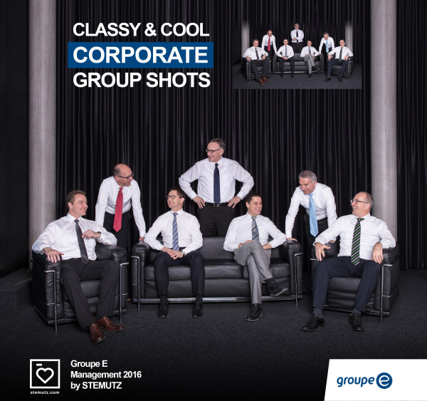 Classy & cool Corporate Groupe Shots! Direction Groupe E 2016