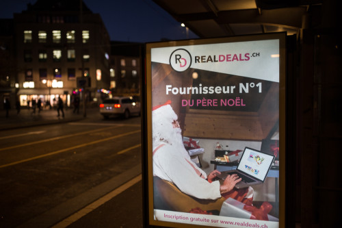 Campagne RealDeals.ch Santa, Fribourg, Nov/Déc. 2016