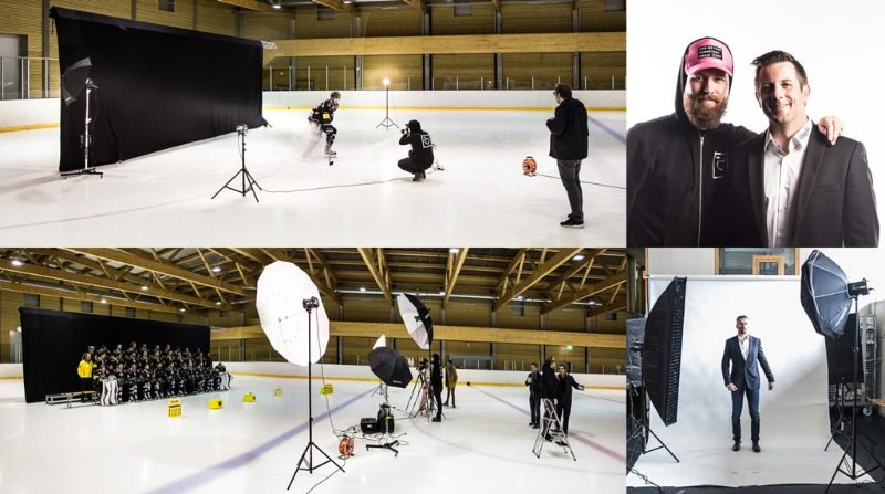 HC Fribourg-Gottéron: Making-Of shooting photo officiel