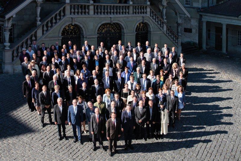 Photo de groupe officielle du Grand Conseil de Fribourg