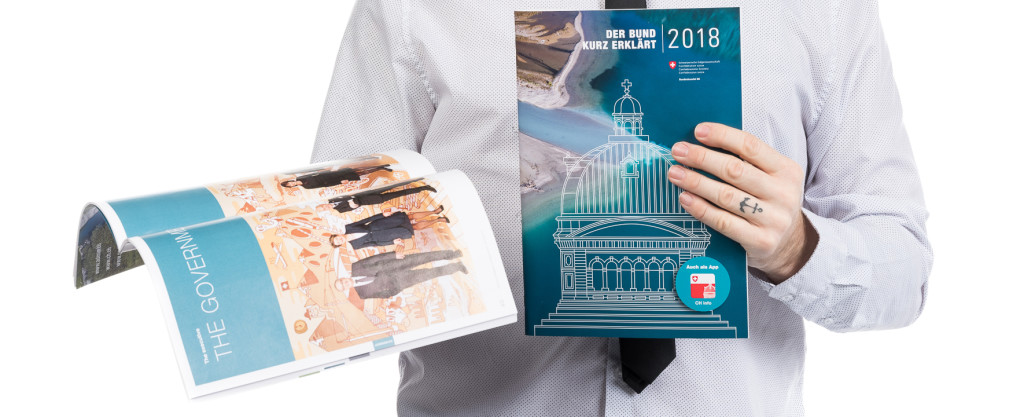 """Fribourg goes to Bern! Official Pictures of the Swiss Federal Council shot by #STEMUTZ published in """"The Swiss Confederation - A Brief Guide 2018"""" (Der Bund kurz erklärt) on pages 40-42 ! :-)"""