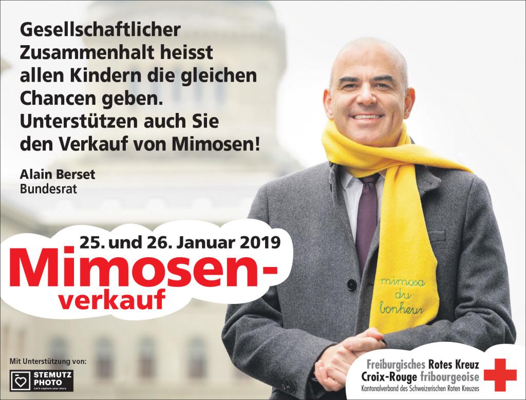 Portraits campagne MIMOSA 2019 par STEMUTZ : Le Bundesrat - Conseiller fédéral Alain Berset